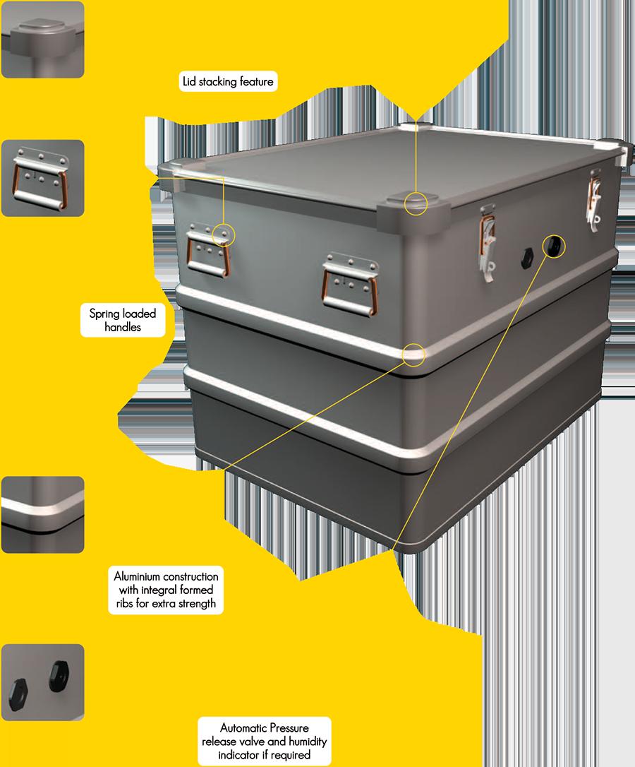 Aluminium GP containers